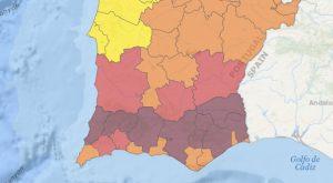 Algarve-News: IPMA-Bewertung der Waldbrandgefahr KW 34 in 2017