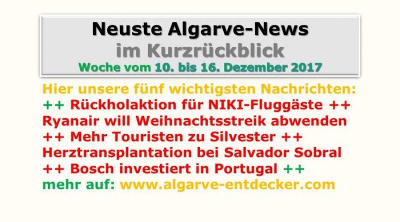 Algarve-News für KW 50 vom 10. bis 16. Dezember 2017