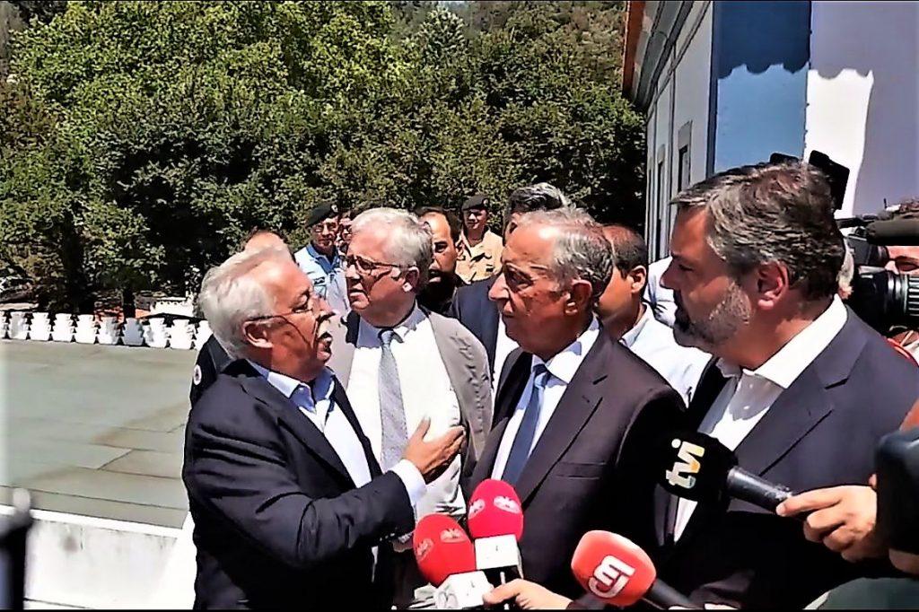 Algarve News zu Besuch des Staatspräsidenten Portugals in Monchique nach Waldbränden