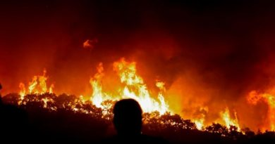 Großfeuer bei Monchique an der Algarve bedroht Häuser