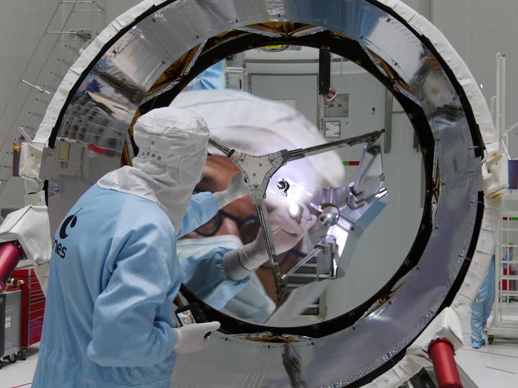 Wind-Messung durch Laser-Teleskop im ESA-Satellit Aeolus