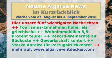Algarve News aus KW 35 vom 27. August bis 2. September 2018