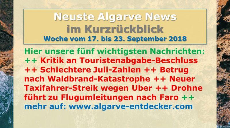Algarve News aus KW 38 vom 17. bis 23. September 2018