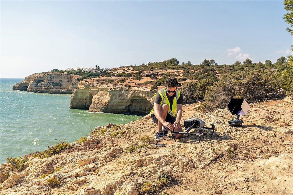 Drohnenflüge von Aerostream an der Algarve managt Tom Wadsworth
