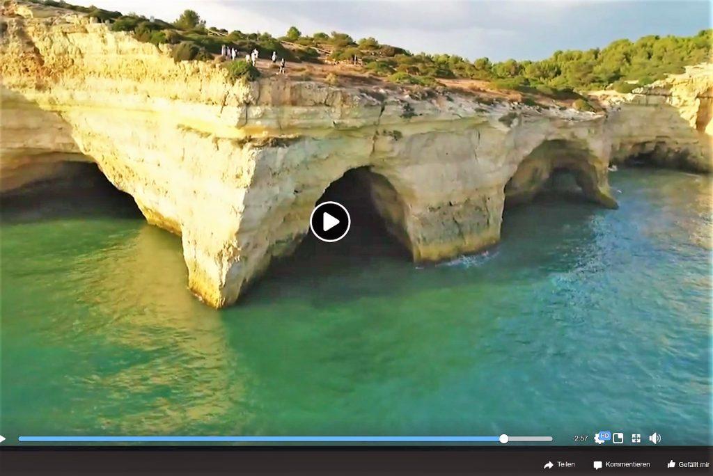 Drohnenflüge über die Algarve zeigen auch die Grotte von Benagil