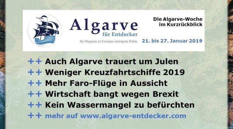 Algarve News aus KW 4 vom 21. bis 27. Januar 2019