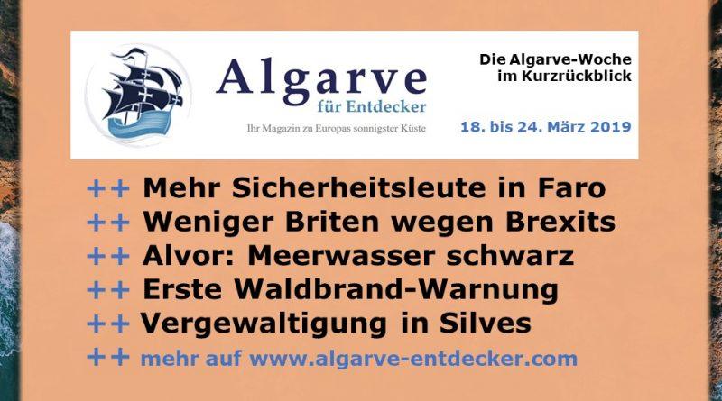 Algarve News und Portugal News aus KW 12 vom 18. bis 24. März 2019