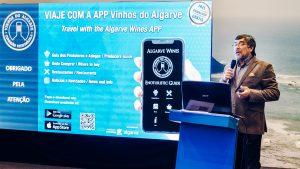 App für Algarve-Weine durch CVA-Präsidente Carlos Gracias präsentiert
