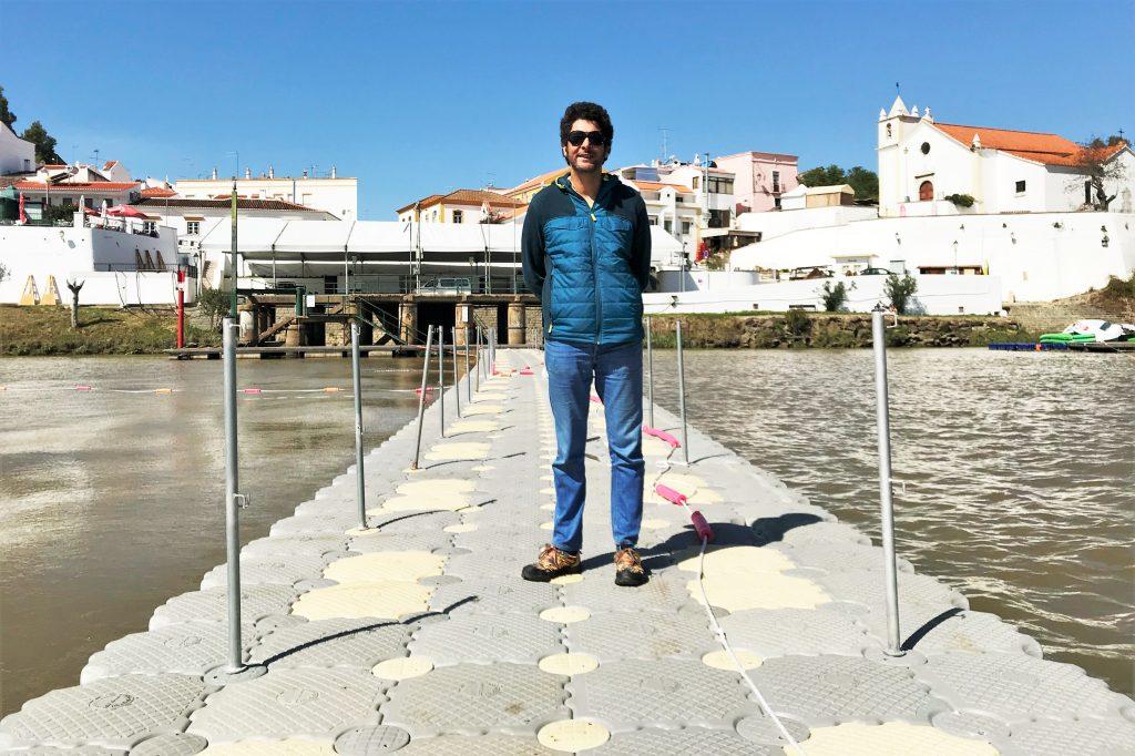 Brückenbau zwischen Alcoutim und Sanlucar de Guadiana ist im März 2019 wieder gelungen