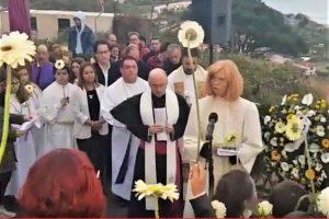Gedenkgottesdienst mit Prozession zur Unfallstelle des Busunglücks auf Madeira