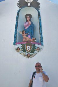Liebeskomödie gedreht fürs ZDF-Herzkino im Schatten der Kirche im Algarve-Ort Ferragudo