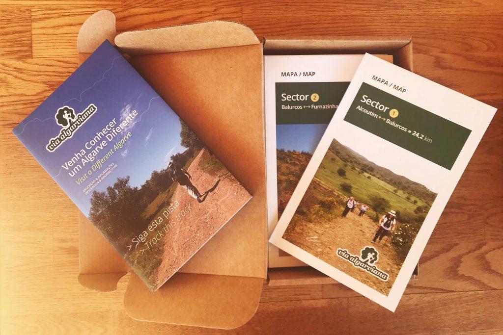 Wanderführer für die Via Algarviana mit Informationsmaterial und Karten