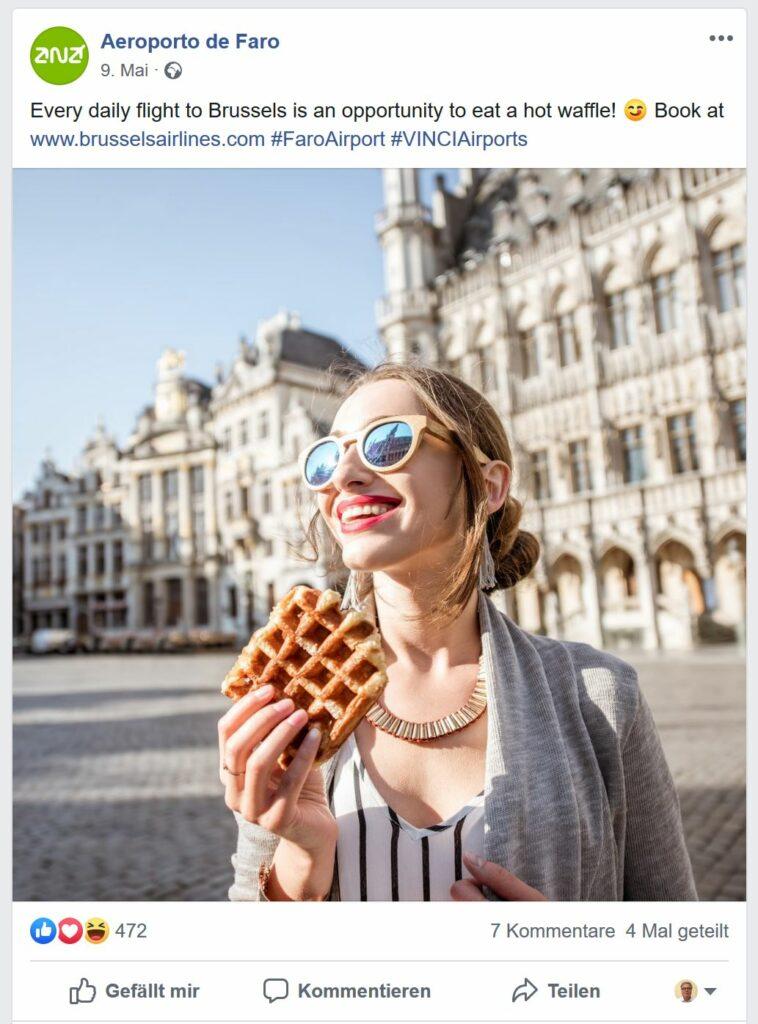 Airport-Werbung von Faro für Brüssel erstaunt