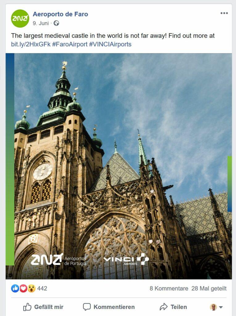 Airport-Werbung von Faro zu Prag gibt Rätsel auf