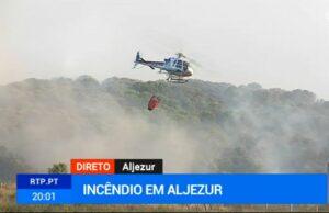 Algarve News zu Waldbrand in Aljezur am 19. Juli 2019