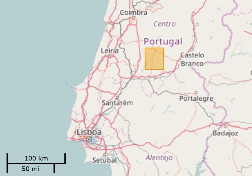 Algarve News Waldbrände Portugal Lage Gebiet