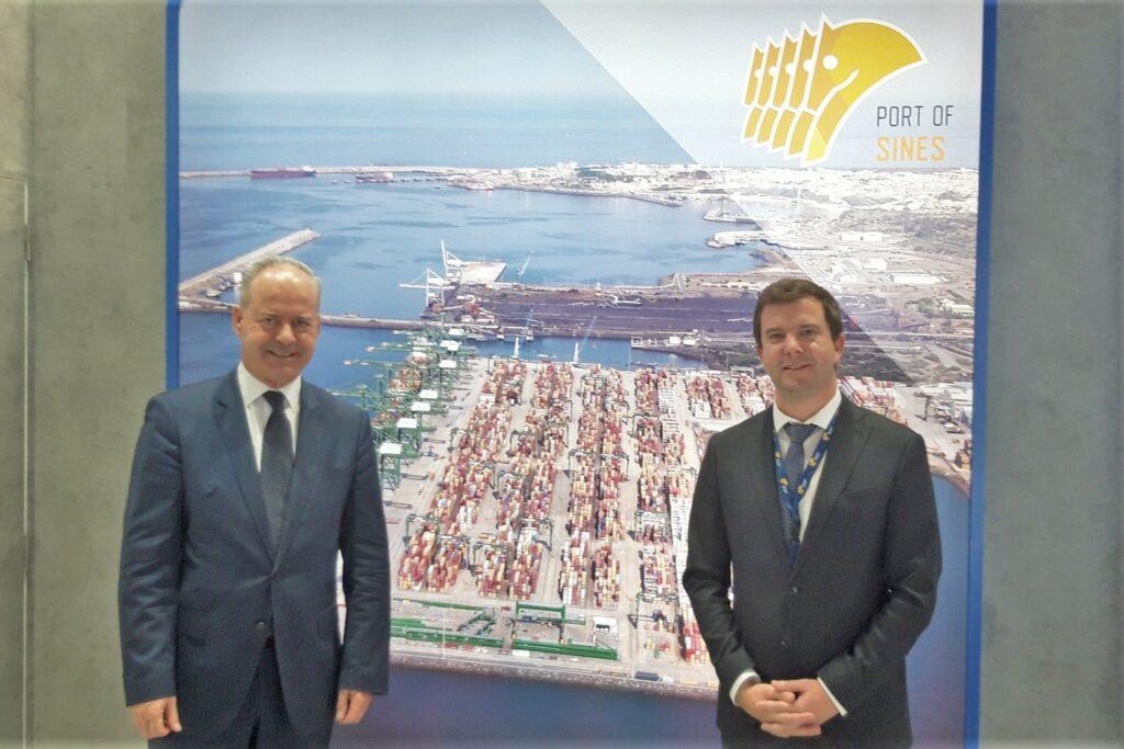 Ausbau des Hafens in Sines auch auf Messe transport logistic in München vorgestellt