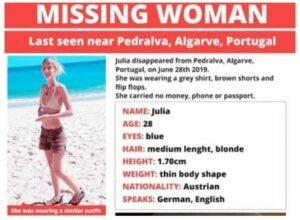 Freund vermisster Österreicherin Julia G. verbreitet Suchplakate privat