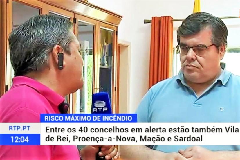 Portugal-Waldbrände Vila de Rei Bürgermeister Ricardo Aires
