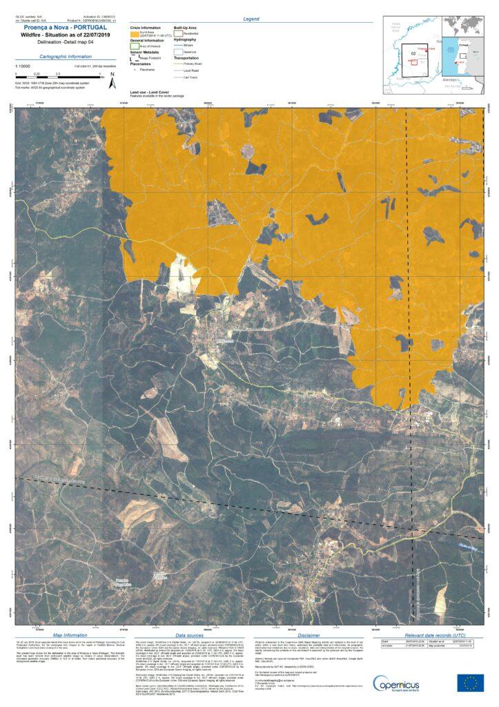 Vier Tage wüteten Waldbrände auch im Bereich Proenca a Nova in Portugal