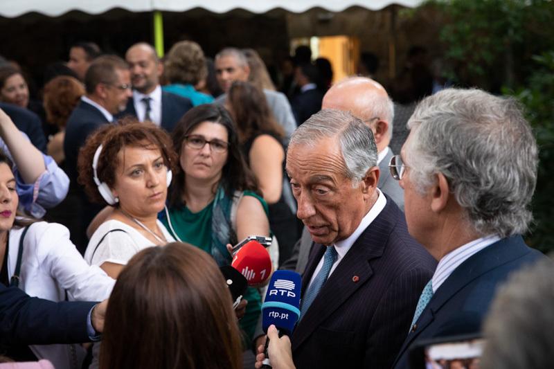 Marcelo Rebelo de Sousa beim Empfang der portugiesischen Botschaft Berlin