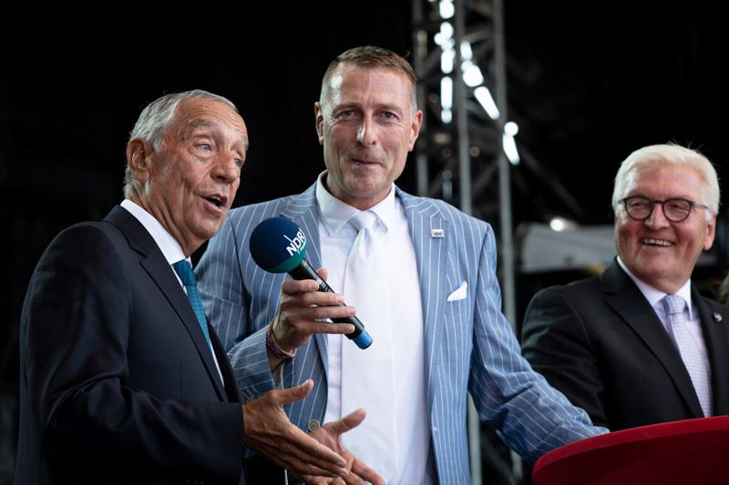 Marcelo Rebelo de Sousa im NDR-Interview auf der Hanse Sail Rostock