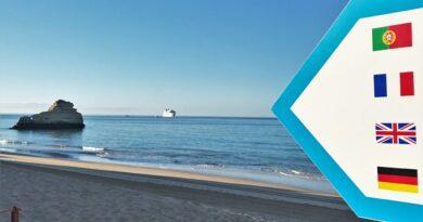 Unterkünfte sind auch Kreuzfahrtschiffe zu Besuch an der Algarve-Küste
