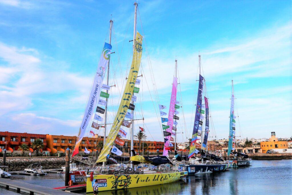 Algarve-Klippen passierten die Clipper des Round the World Race auf dem Weg nach Portimao