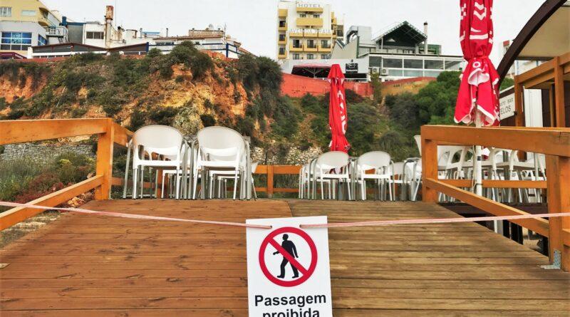 Portugal Notstand Schließung Algarve Restaurant