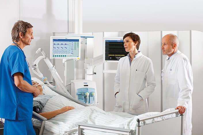 Covid-19-Fälle erfordern oft den Einsatz von Beatmungsgeräten